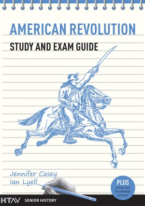 Front cover of the American Revolution Study and Exam Guide.