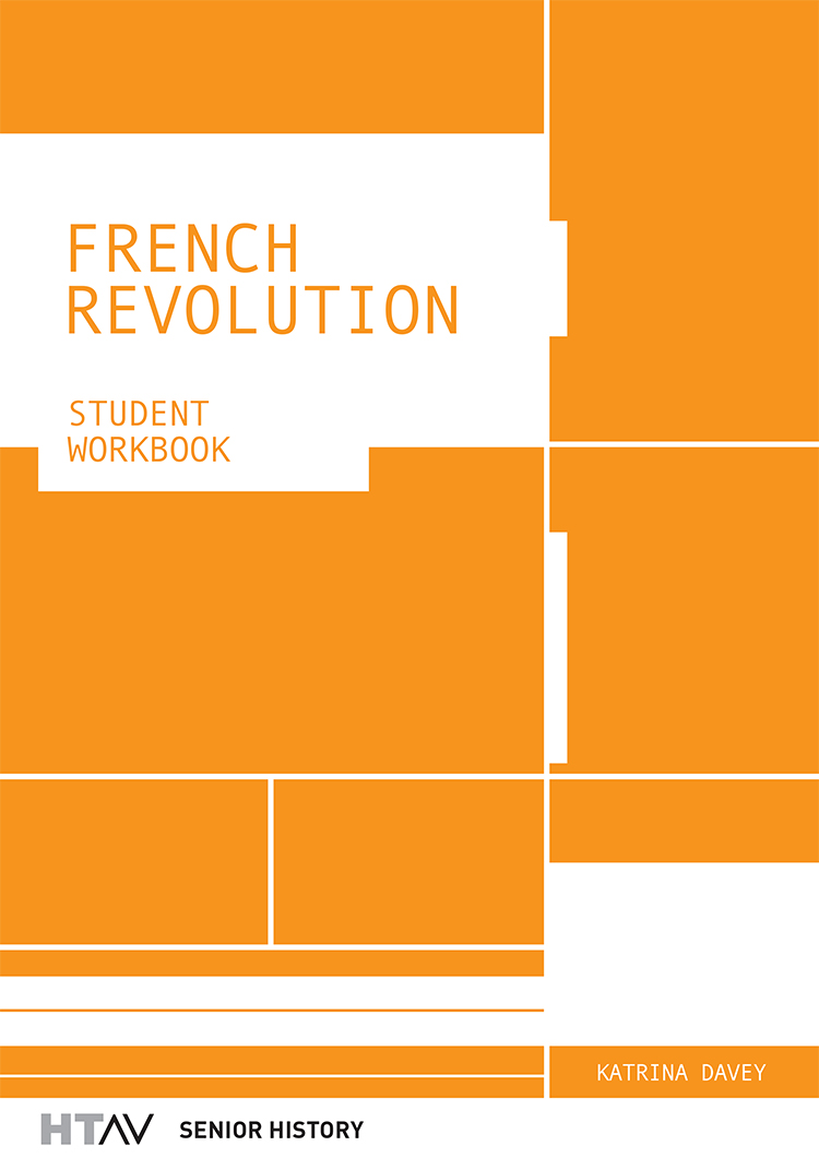 Front cover of the French Revolution: Student Workbook.