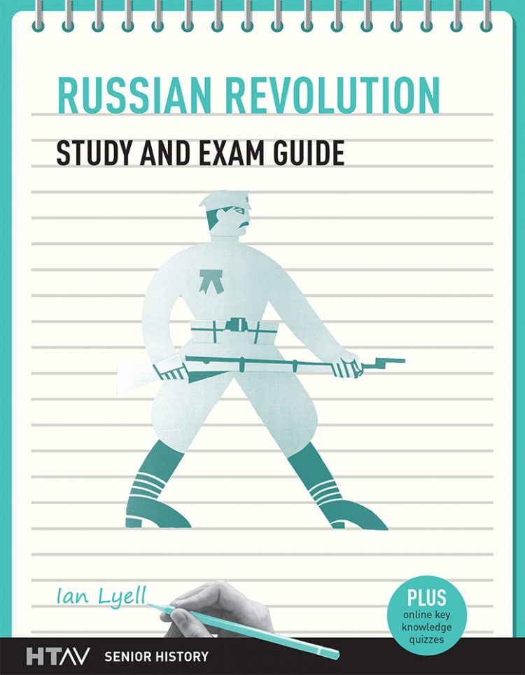 Front cover of Russian Revolution Study and Exam Guide.