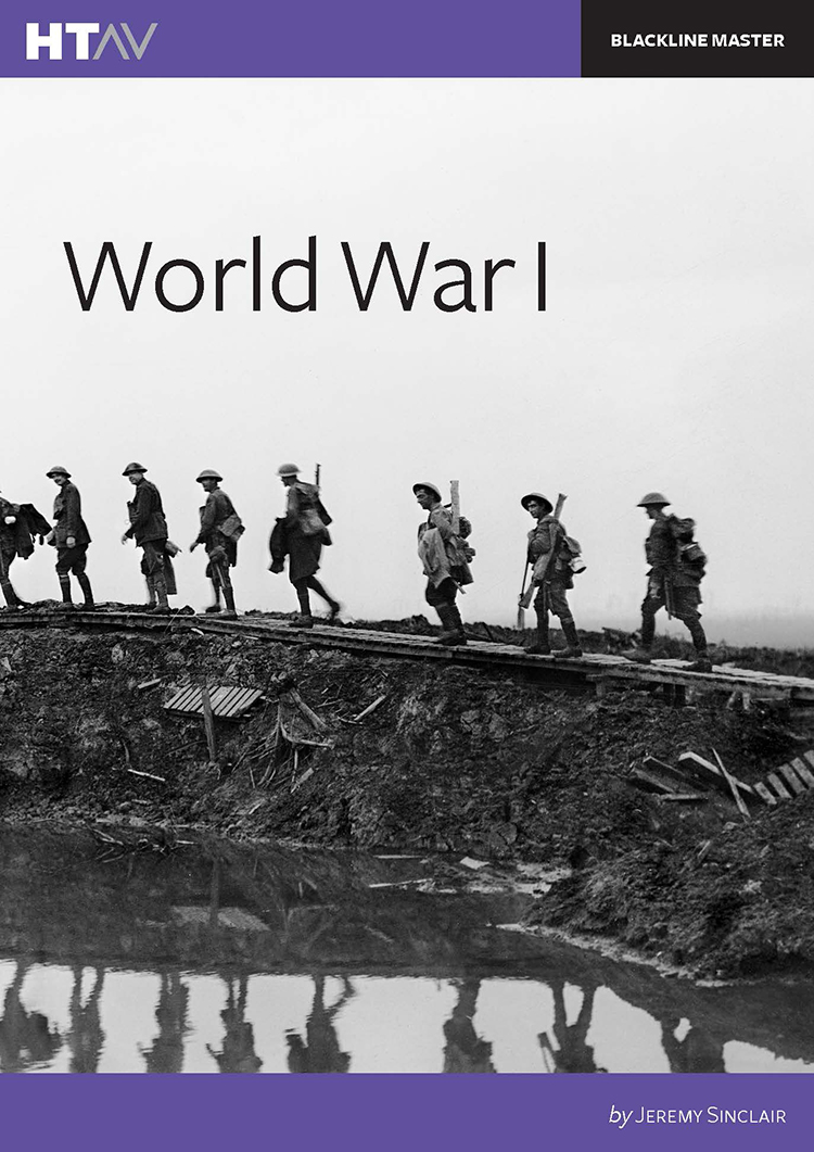 Front cover of World War I.