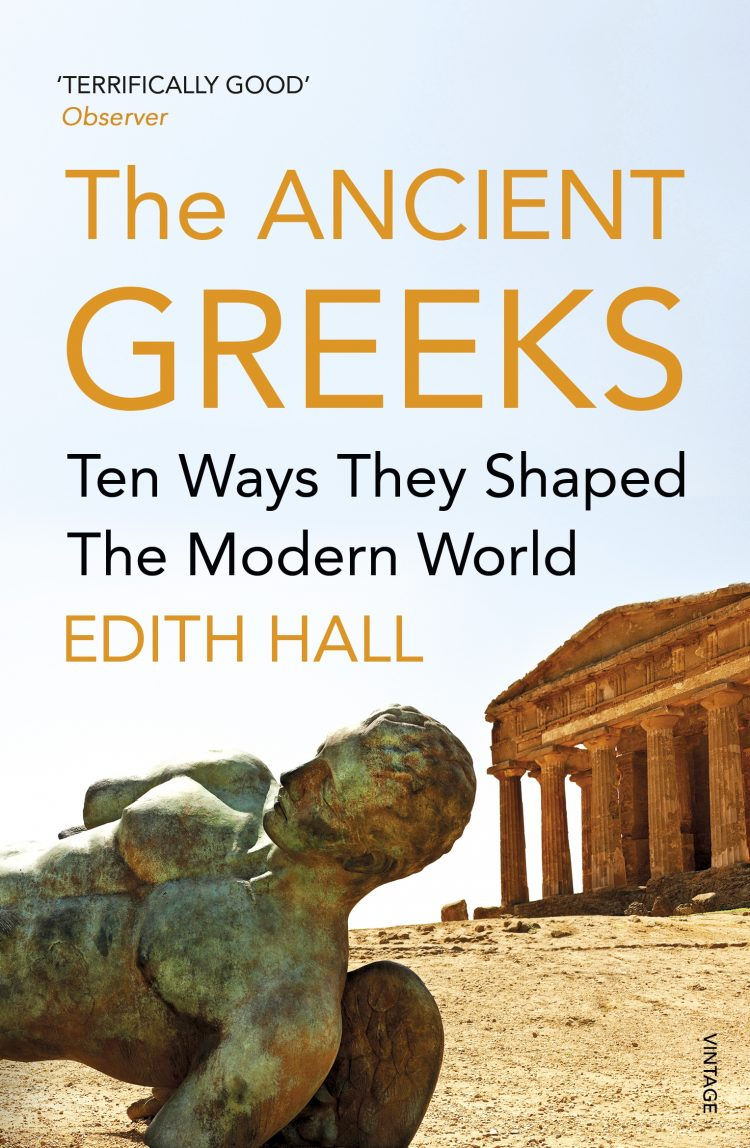 Book cover for the Ancient Greeks by Edith Hall.